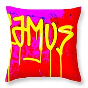 Camus ... Graffitied  Throw Pillow