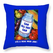 Can All You Can -- Ww2 Throw Pillow