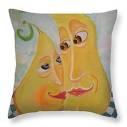 Can I Just Stay Near You?  Pear Love Throw Pillow