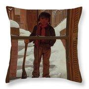 Can I Shovel Off The Snow ? Throw Pillow