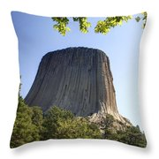 Can You Find The Climbers On Devils Tower Wyoming -1 Throw Pillow
