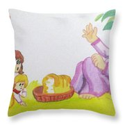 Can You Spare Some Children Throw Pillow
