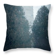 Cana Island Lighthouse Wisconsin Painterly Throw Pillow