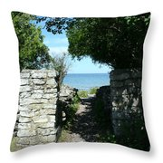 Cana Island Walkway Wi Throw Pillow