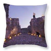 Canaanite Entrance Gate To El Megiddo Throw Pillow