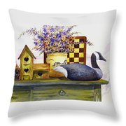 Canada And Checkerboard Throw Pillow
