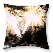 Canada Day 150 Lights 2 Throw Pillow