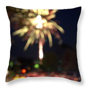 Canada Day 150 Lights 4 Throw Pillow