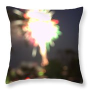 Canada Day 150 Lights 5 Throw Pillow