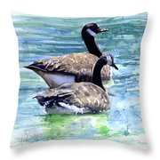 Canada Geese Throw Pillow