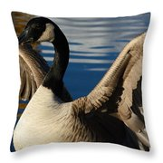 Canada Goose Spreading The Wings Throw Pillow