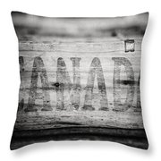 Canada In Black And White Throw Pillow