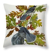 Canada Jay Throw Pillow by John James Audubon