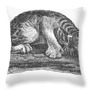 Canada Lynx, 1873 Throw Pillow