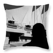 Canada Place Wings Silhouette Throw Pillow