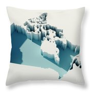 Canada Simple Intrusion Map 3d Render Throw Pillow