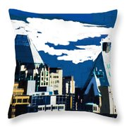 Canada Towers Throw Pillow