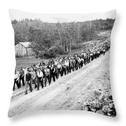 Canada: Unemployed, 1935 Throw Pillow