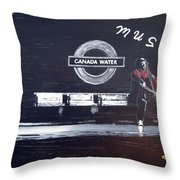 Canada Water Music Throw Pillow