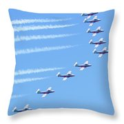 Canadian Air Force Snowbirds Throw Pillow