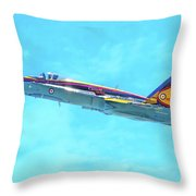 Canadian Armed Forces Cf-18 Hornet Throw Pillow