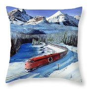 Canadian At Morant's Curve Throw Pillow