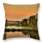 Canadian Autumn Sunrise Throw Pillow