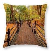 Canadian Autumnal Walkway Throw Pillow