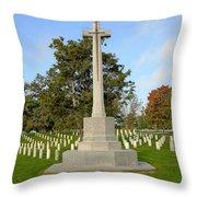 Canadian Cross Of Sacrifice Throw Pillow