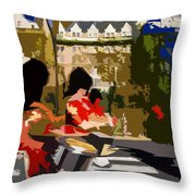 Canadian Drummers Throw Pillow