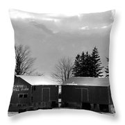Canadian Farm Throw Pillow