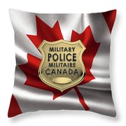 Canadian Forces Military Police C F M P  -  M P Officer Id Badge Over Canadian Flag Throw Pillow