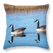 Canadian Geese Couple Throw Pillow