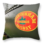 Canadian Heritage Train Throw Pillow
