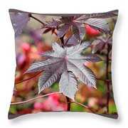 Canadian Leaf Throw Pillow