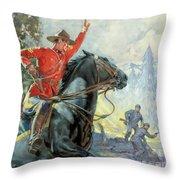 Canadian Mounties Throw Pillow