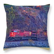 Canadian Pacific Reds Throw Pillow