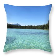 Canadian Paradise In The  Mountains Throw Pillow