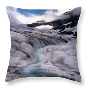 Canadian Rockies Glacier Throw Pillow