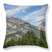 Canadian Rockies Near Kicking Horse Pass Throw Pillow