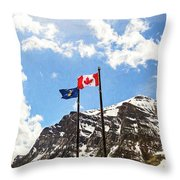 Canadian Rockies - Digital Painting Throw Pillow