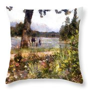 Canadian Sunday Out By The Lake Throw Pillow