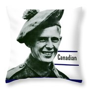 Canadian This Man Is Your Friend Throw Pillow