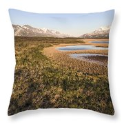 Canadian Tundra In Evening Light. Throw Pillow