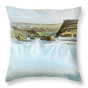 Canadian Water Fall Throw Pillow