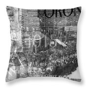Canadian Wwi Nostalgic Collage Throw Pillow