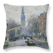 Canal Amsterdam Throw Pillow