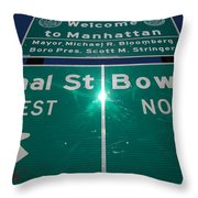 Canal And Bowery Throw Pillow