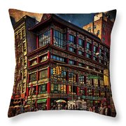 Canal And Center Streets New York City Throw Pillow