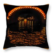 Canal At Night - Amsterdam Throw Pillow